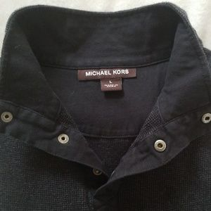 Michael Kors Sweaters - Michael Kors Thermal Stand Up Collar Sweater